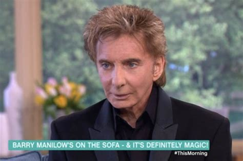barry manilow oh mandy itv this morning barry manilow compared to waxwork