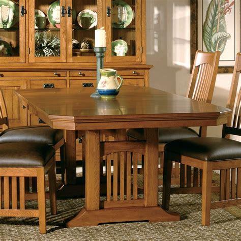 arts  crafts trestle dining table hekman furniture cart