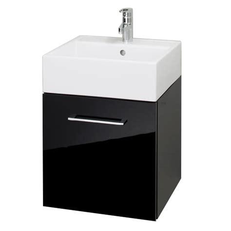 Rak Cabinet Home 129243 rak wall hung drawer cabinet with ceramic basin glossy black at plumbing uk