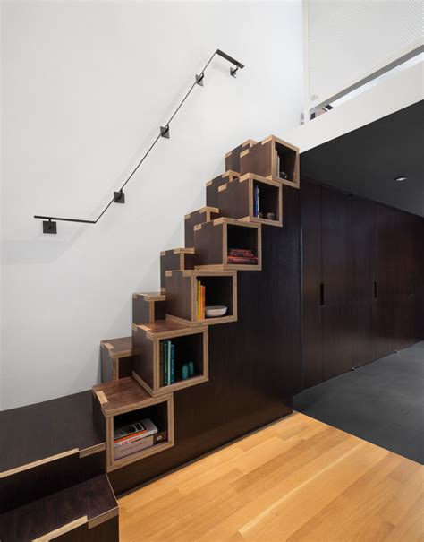 13 stair design ideas for small spaces contemporist compact loft stairs small loft stairs furniture