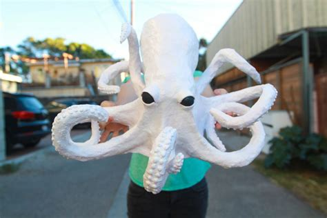 Things To Make With Paper Mache - creepy paper mache octopus craft tutorial