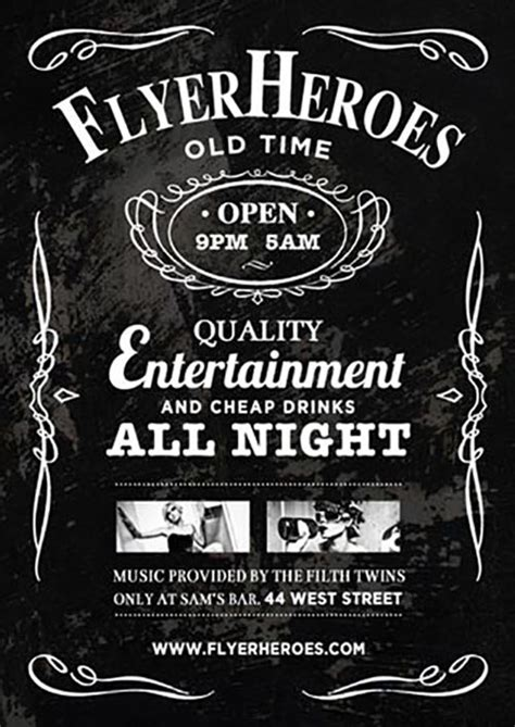 Bar Flyer Templates Free best 50 free psd flyer templates mega collection