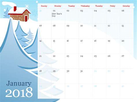 2019 Illustrated Seasonal Calendar Sun Sat Calendar Template For Powerpoint 2017