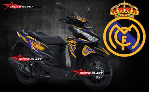 Striping Lis Stiker Vario 28 modifikasi honda vario 150 black real madrid