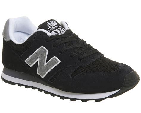 Black New Balance new balance 373 trainers black silver unisex sports