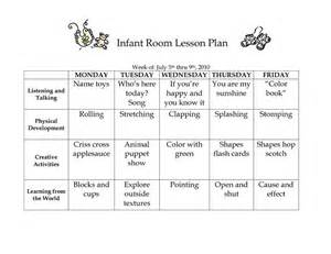 Lesson Plan Template For Infants by 17 Best Ideas About Infant Lesson Plans On