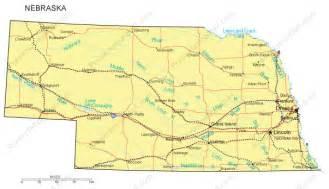 united states map nebraska nebraska map and nebraska satellite image
