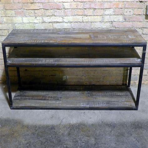 iron  wood console table nadeau dallas