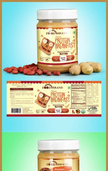 Protein Shake Label Template Ji 19 Packaging Seller Peanut Butter Label Template
