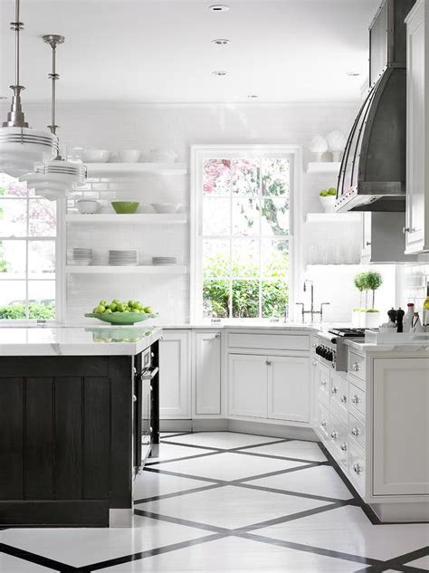 black and white kitchen floor ideas black and white painted kitchen floor design ideas