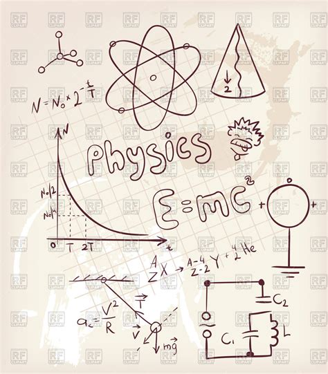 doodle radiation doodle physics elements royalty free vector clip image