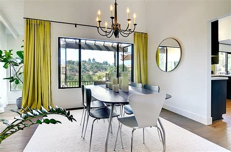 Interior Window Curtains Minimalist Dining Room Ideas Designs Photos Inspirations