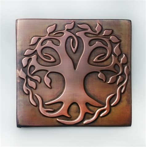 Copper Tiles For Kitchen Backsplash celtic tree of life tree of happiness metal wall art
