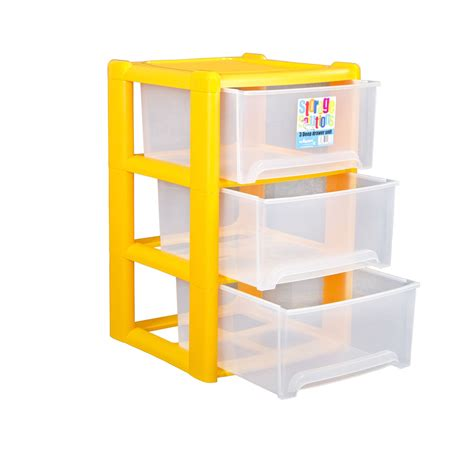plastic pull out drawer organizer wham plastic deep 3 drawer a4 tower storage unit rear