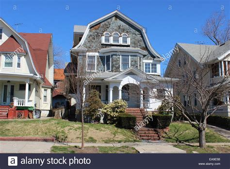 buy house in queens ny dutch colonial revival house richmond hill queens new york stock photo royalty
