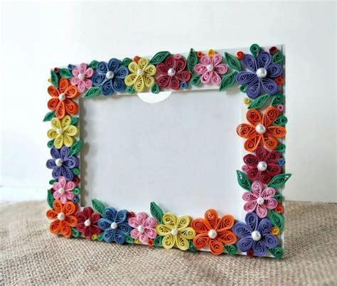 Handmade Craft Ideas Paper Quilling - paper quilled photo frame simple craft ideas