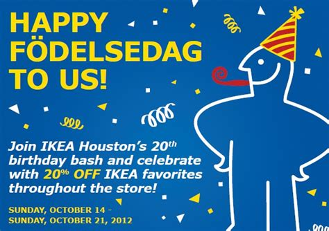 ikea birthday ikea houston s 20th birthday bash october 20