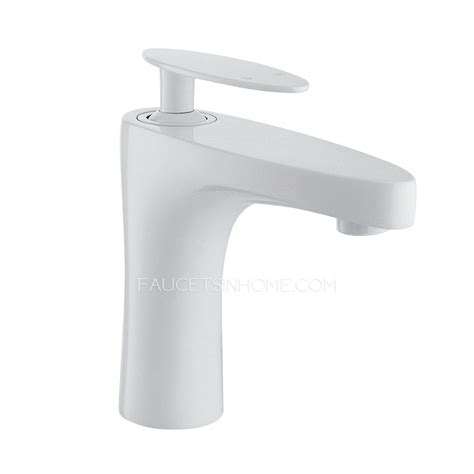 modern wall mount white painting bathroom faucet sale