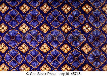 batik pattern digital drawing of digital oil painting of beautiful batik