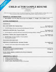 Acting Resume Exles by Child Actor Sle Resume Child Actor Sle Resume Are Exles We Provide As Reference To