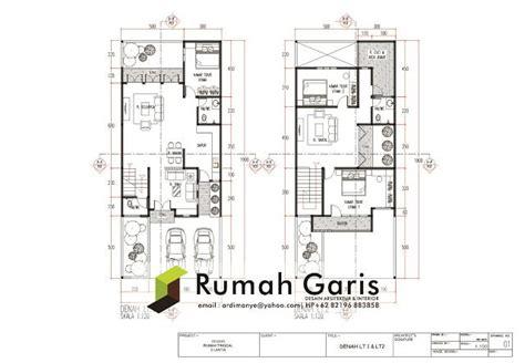 layout rumah type 54 rumah garis drafter gambar rumah berupa denah tak