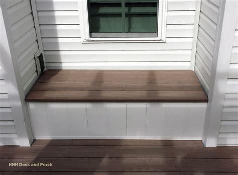 azek bench azek vinyl silver oak bench hnh deck porch extras