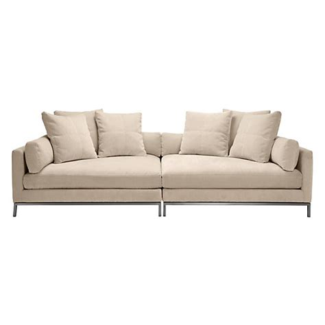 deep sofa ventura 2 piece extra deep sofa z gallerie