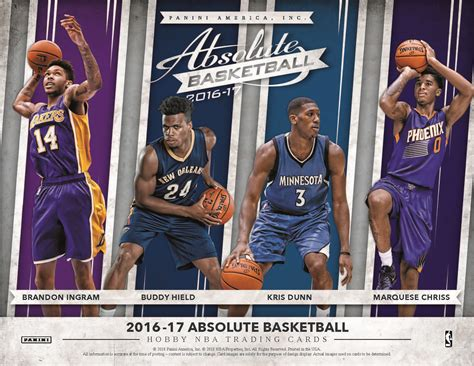 the long tomorrow absolute 8863044694 2016 17 panini absolute nba basketball cards checklist