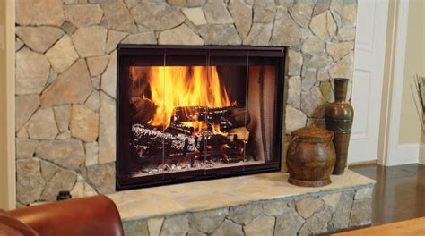Fireplace With Wood Burner places big river heating and air