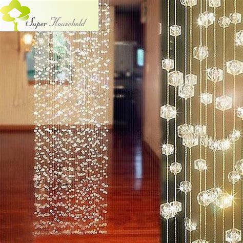 Diy Beaded Door Curtains Aliexpress Buy Diy Handmade Curtains Decorative Door Curtain Room Divider Window