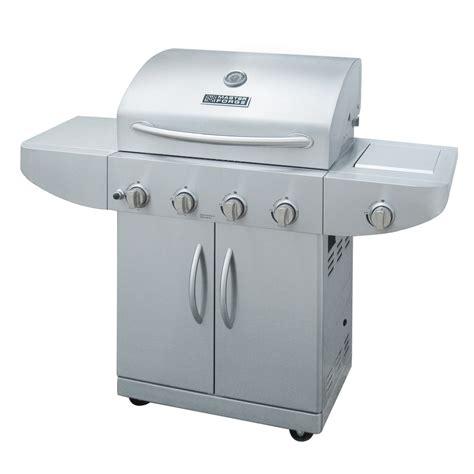 shop master forge 4 burner 48 000 btu liquid propane gas grill with side burner at lowes com