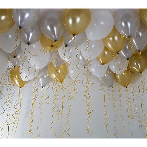 Talking Tables Balloons talking tables ceiling balloons pack of 30 gold white