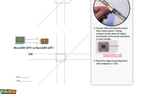 how to cut sim card to micro sim without template cut your own nano sim for iphone 5 visihow