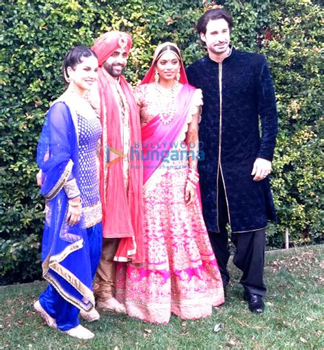 Sunny Leone graces her brother Sundeep?s wedding ceremony