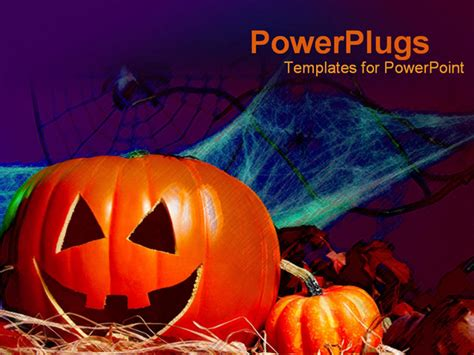 scary powerpoint templates powerpoint template decorations pumpkin bat