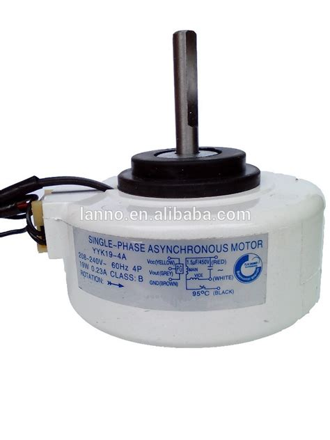 capacitor run asynchronous motor for air conditioner fan single phase asynchronous motor for air conditioner 208 230 v single phase asynchronous motor