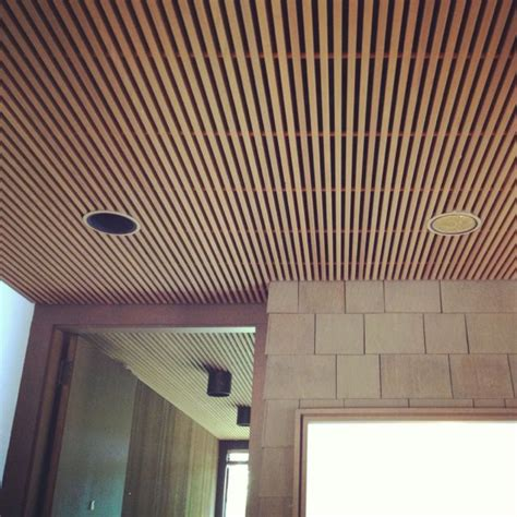 wood slat ceiling system 1000 images about wood ceiling on plywood