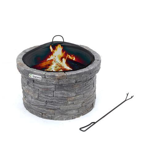 tepro feuerstelle tepro feuerstelle gladstone terrassenfeuer in steinoptik