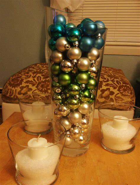 furniture table decoration with green and silver