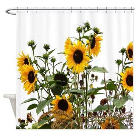 sunflowers in garden shower curtain by flowersforyou1
