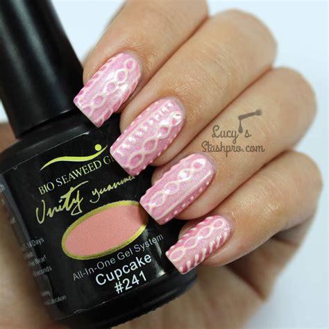 knitted nail art tutorial bio seaweed gel lucy s stash pro