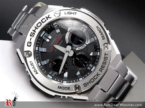 G Shock Casio Rantai Stainless Steel Gsts4 buy casio g shock analog digital solar stainless steel band sport gst s110d 1a gsts110d
