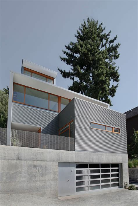 warm modern home full of concrete and wood details warm modern home full of concrete and wood details