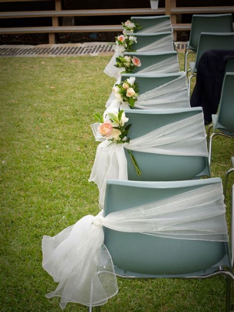 Even plain plastic chairs can be turned into a lovely