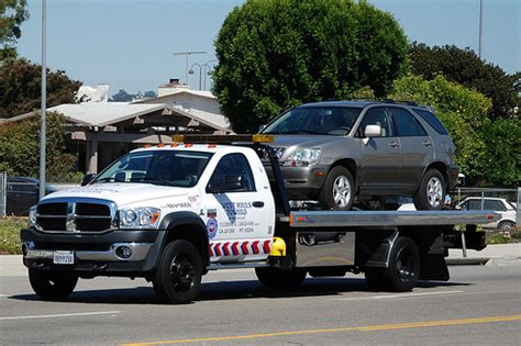 west towing dodge flatbed tow truck flickr