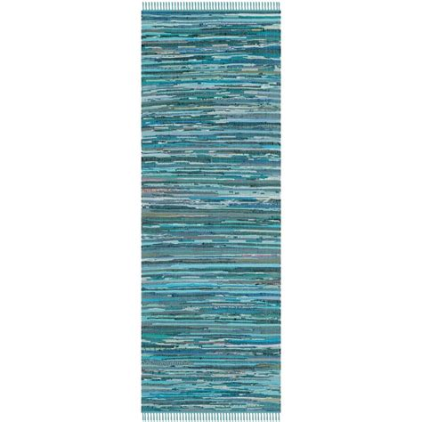 safavieh rag rug blue multi 2 ft 3 in x 11 ft runner