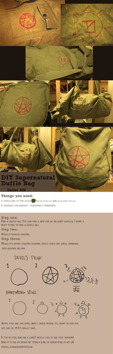 supernatural diy crafts diy supernatural bag tutorial by ljubam on deviantart