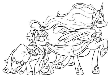 coloring page my little pony princess my little pony coloring pages princess celestia and luna