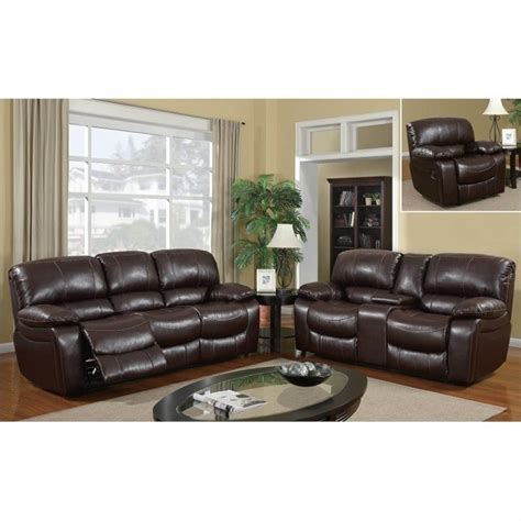 burgundy leather sofa set 8122 reclining 3 sofa set in burgundy leather