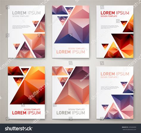 Modern Layout by Set Of Modern Abstract Brochure Flyer Report Design